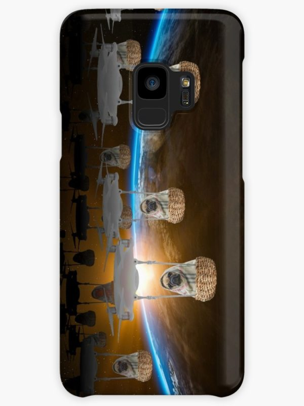 Pugvasion Alien Invasion by Drone Cases & Skins for Samsung Galaxy