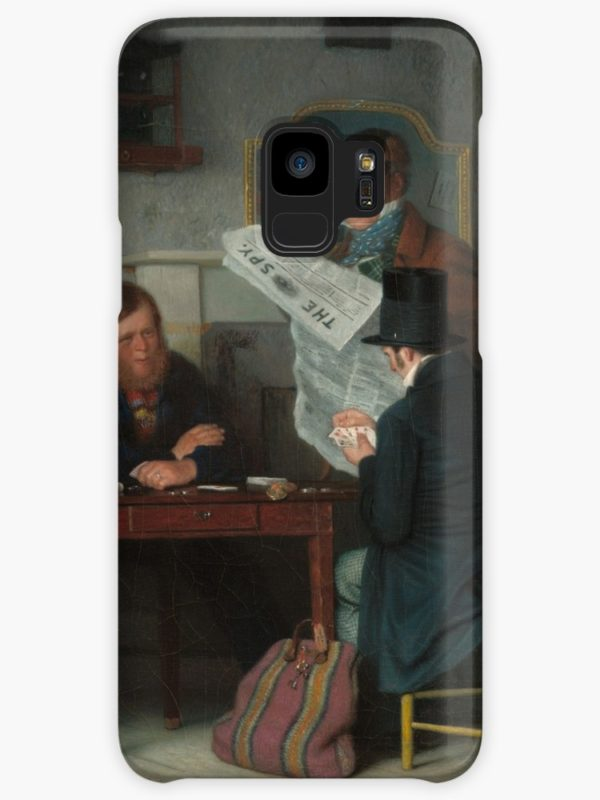 Waiting for the Stage Oil Painting by Richard Caton Woodville Cases & Skins for Samsung Galaxy
