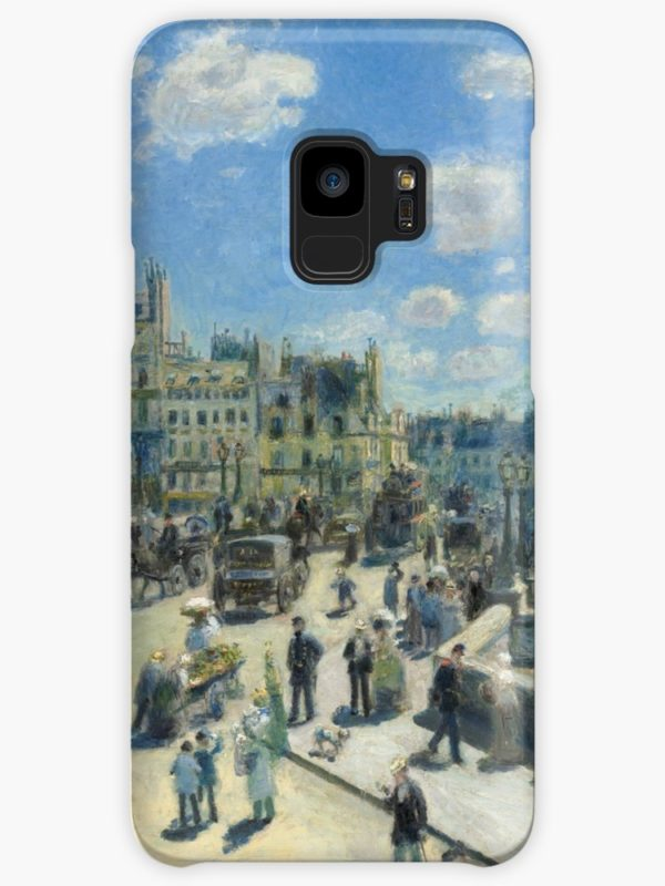 Pont Neuf Paris Painting by Auguste Renoir Cases & Skins for Samsung Galaxy