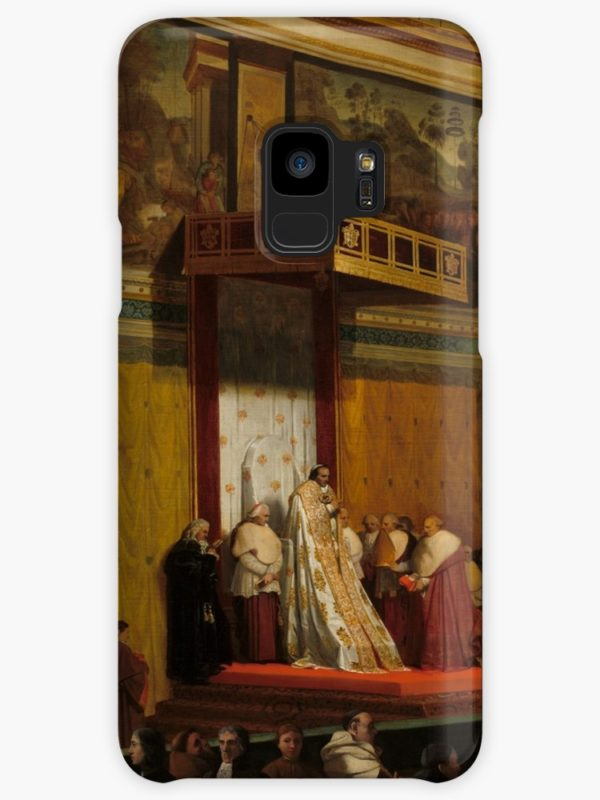 Pope Pius VII in the Sistine Chapel Oil Painting by Jean-Auguste-Dominique Ingres Cases & Skins for Samsung Galaxy