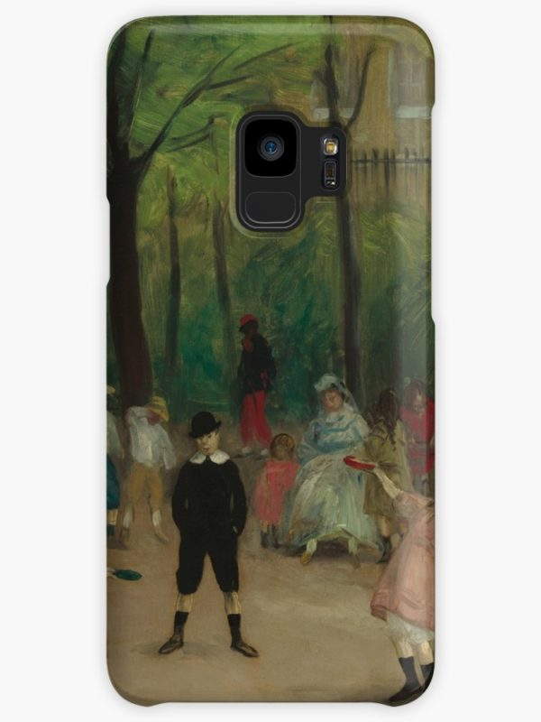 Luxembourg Gardens Oil Painting by William James Glackens Cases & Skins for Samsung Galaxy
