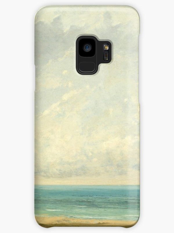 Calm Sea Oil Painting by Gustave Courbet Cases & Skins for Samsung Galaxy