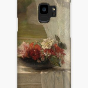 Flowers on a Window Ledge Oil Painting by John La Farge Cases & Skins for Samsung Galaxy
