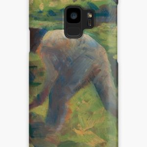 Peasant with a Hoe Oil Painting by Georges Seurat Cases & Skins for Samsung Galaxy