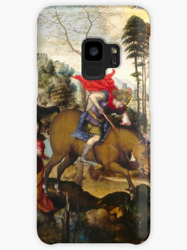 Saint George and the Dragon Oil Painting by Sodoma Cases & Skins for Samsung Galaxy