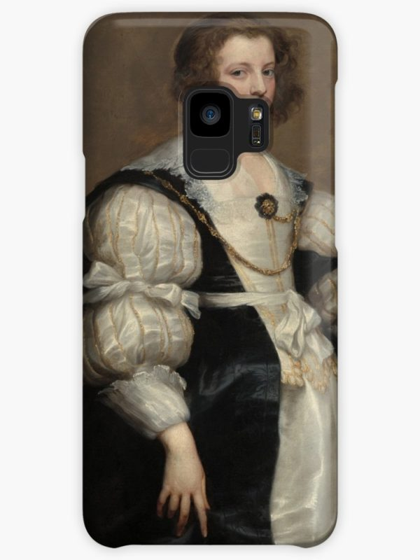 Lady with a Fan Oil Painting by Sir Anthony van Dyck Cases & Skins for Samsung Galaxy