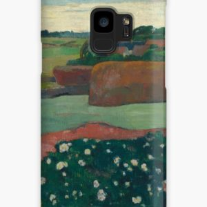 Haystacks in Brittany Oil Painting by Paul Gauguin Cases & Skins for Samsung Galaxy
