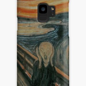 The Scream Lovingly Knitted by Granny E-Munch Cases & Skins for Samsung Galaxy