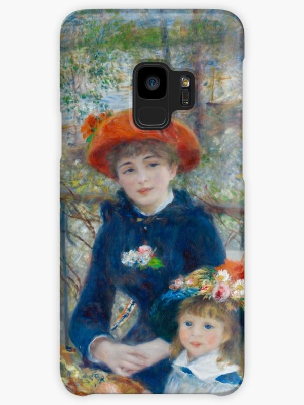 Two Sisters on the Terrace Oil Painting by Auguste Renoir Cases & Skins for Samsung Galaxy