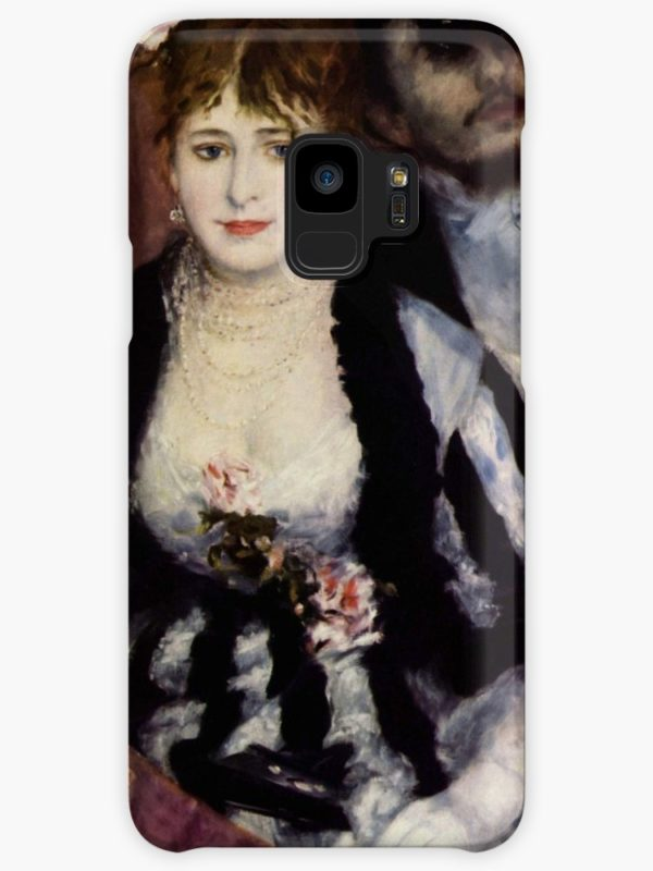 The Theatre Box -  La Loge Oil Painting by Auguste Renoir Cases & Skins for Samsung Galaxy