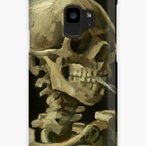 Skull of a Skeleton with Burning Cigarette by Vincent van Gogh Cases & Skins for Samsung Galaxy