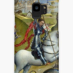 Saint George and the Dragon Oil Painting by Rogier van der Weyden Cases & Skins for Samsung Galaxy