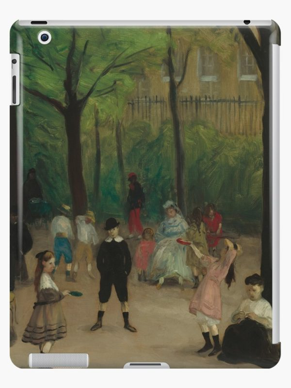 Luxembourg Gardens Oil Painting by William James Glackens iPad Cases & Skins