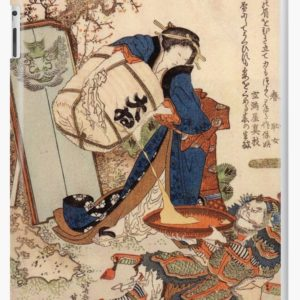 The Strong Oi Pouring Sake by Katsushika Hokusai iPad Cases & Skins