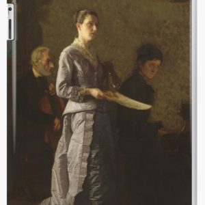 Singing a Pathetic Song Oil Painting by Thomas Eakins iPad Cases & Skins
