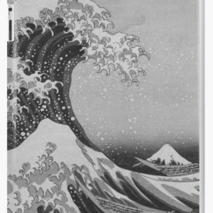 Black and White Japanese Great Wave off Kanagawa by Hokusai iPad Cases & Skins