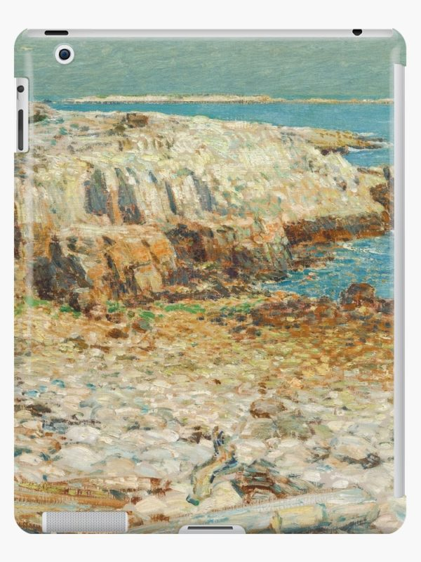 A North East Headland Oil Painting by Childe Hassam iPad Cases & Skins