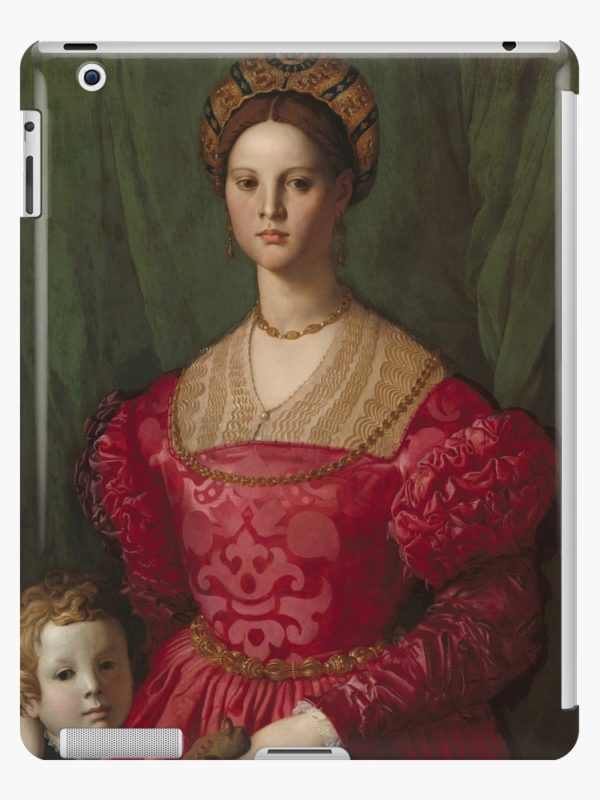 A Young Woman and Her Little Boy Oil Painting by Agnolo Bronzino iPad Cases & Skins