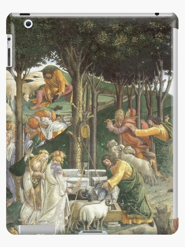 Trials of Moses Painting by Botticelli - Sistine Chapel iPad Cases & Skins