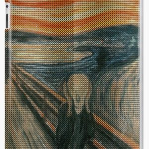 The Scream Lovingly Knitted by Granny E-Munch iPad Cases & Skins