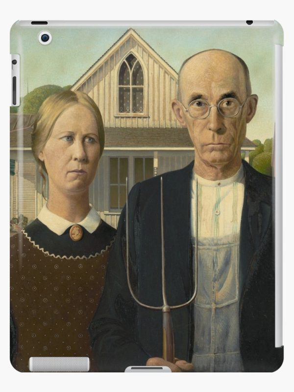 American Gothic Oil Painting by Grant Wood iPad Cases & Skins
