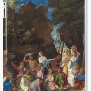 The Feast of the Gods Painting by Giovanni Bellini and Titian iPad Cases & Skins