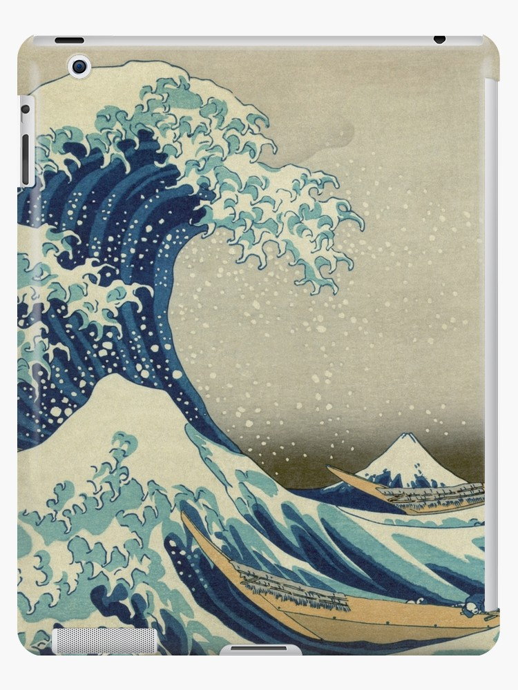 84276d1308fb1 The Classic Japanese Great Wave off Kanagawa by Hokusai iPad Cases & Skins