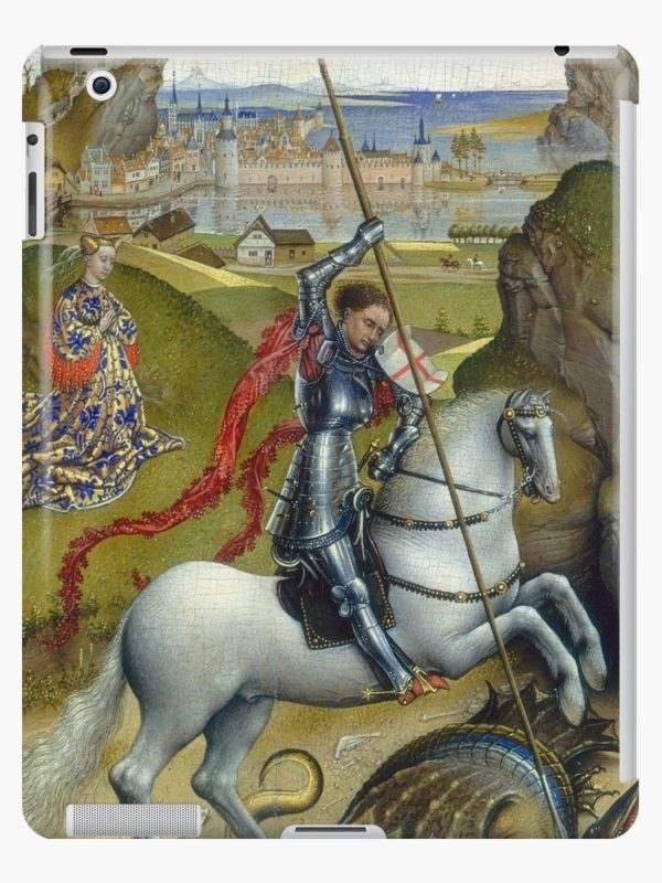Saint George and the Dragon Oil Painting by Rogier van der Weyden iPad Cases & Skins