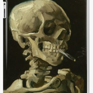 Skull of a Skeleton with Burning Cigarette by Vincent van Gogh iPad Cases & Skins