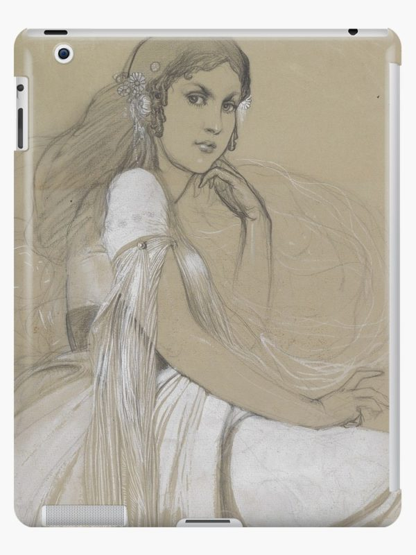 The artists daughter by Jaroslava Drawing iPad Cases & Skins