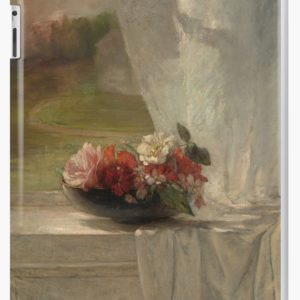 Flowers on a Window Ledge Oil Painting by John La Farge iPad Cases & Skins