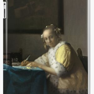 A Lady Writing Oil Painting by Johannes Vermeer iPad Cases & Skins