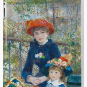 Two Sisters on the Terrace Oil Painting by Auguste Renoir iPad Cases & Skins