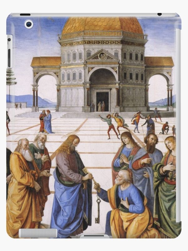 The Delivery of the Keys Painting by Perugino Sistine Chapel iPad Cases & Skins