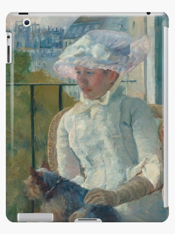 Young Girl at a Window Oil Painting by Mary Stevenson Cassatt iPad Cases & Skins