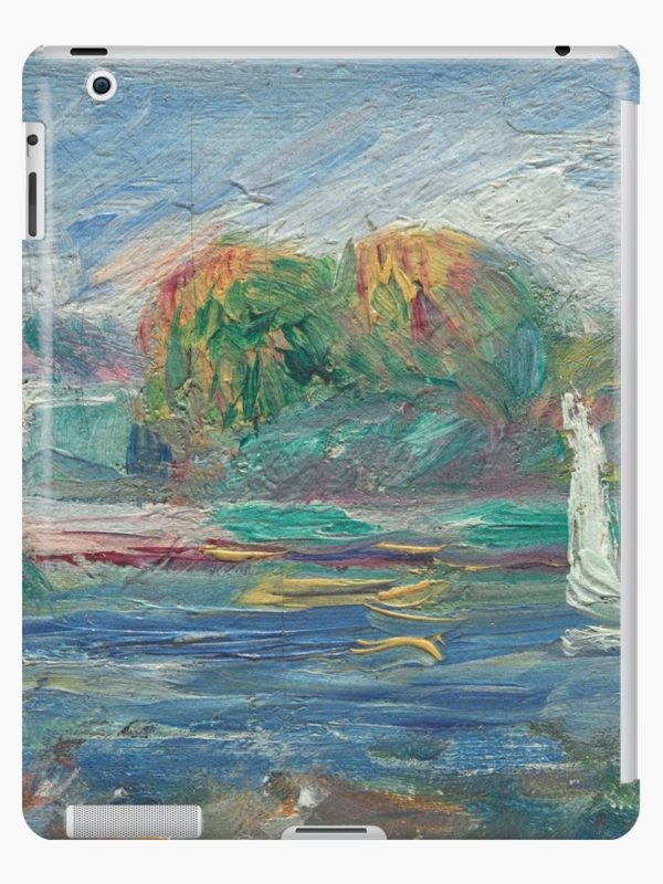 The Blue River Oil Painting by Auguste Renoir iPad Cases & Skins