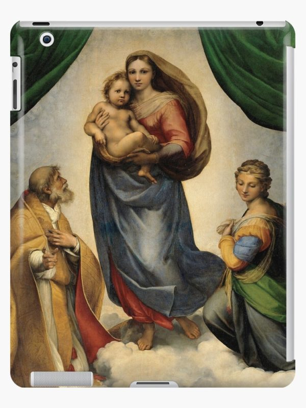The Sistine Madonna Oil Painting by Raphael iPad Cases & Skins