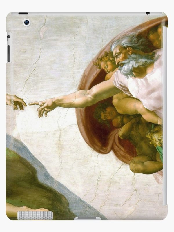 The Creation of Adam Painting by Michelangelo Sistine Chapel iPad Cases & Skins