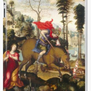 Saint George and the Dragon Oil Painting by Sodoma iPad Cases & Skins