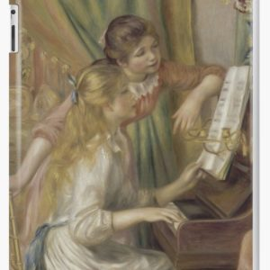 Young Girls at the Piano Oil Painting by Pierre Auguste Renoir iPad Cases & Skins