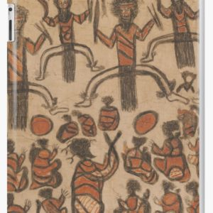 Wurundjeri People Charcoal Drawing by Australian William Barak iPad Cases & Skins