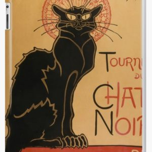 Le Chat Noir The Black Cat Poster by Théophile Steinlen iPad Cases & Skins