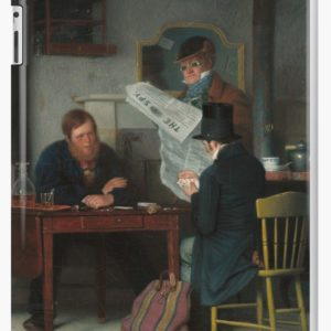 Waiting for the Stage Oil Painting by Richard Caton Woodville iPad Cases & Skins