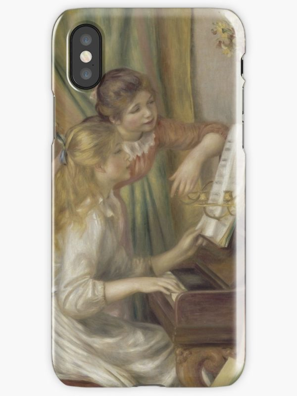Young Girls at the Piano Oil Painting by Pierre Auguste Renoir iPhone Cases & Covers
