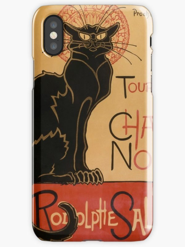 Le Chat Noir The Black Cat Poster by Théophile Steinlen iPhone Cases & Covers