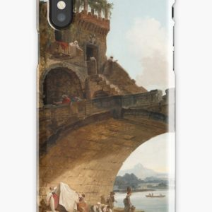 The Ponte Salario Oil painting by Hubert Robert iPhone Cases & Covers