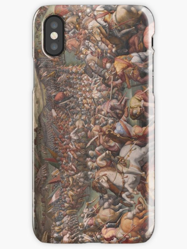 Classic Art The battle of Marciano in Val di Chiana By Giorgio Vasari iPhone Cases & Covers