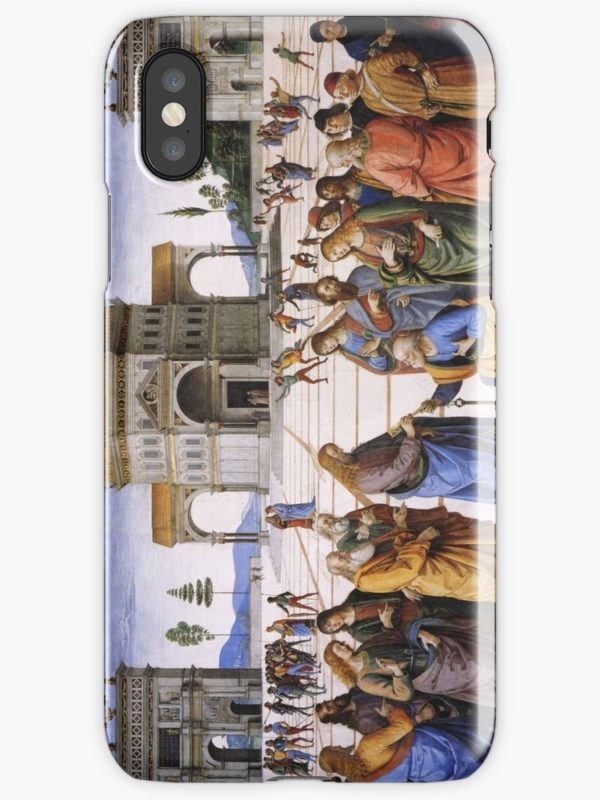 The Delivery of the Keys Painting by Perugino Sistine Chapel iPhone Cases & Covers