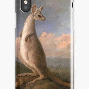 The Kongouro Oil Painting by Australian Artist George Stubbs iPhone Cases & Covers