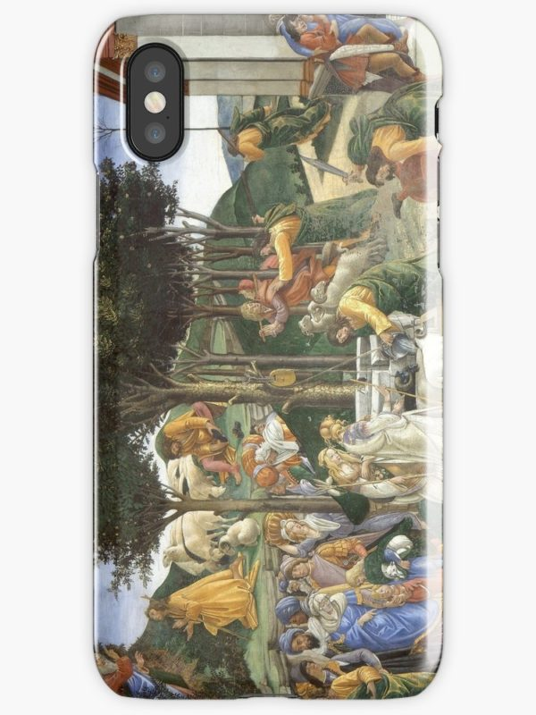 Trials of Moses Painting by Botticelli - Sistine Chapel iPhone Cases & Covers
